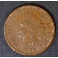 1868 INDIAN CENT  XF