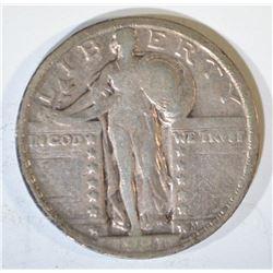 1921 STANDING LIBERTY QUARTER  CH VF