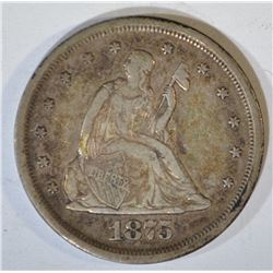 1875-S TWENTY CENT PIECE  ORIGINAL XF