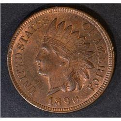 1890 INDIAN HEAD CENT  GEM BU  RED
