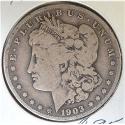 1903-S MORGAN DOLLAR  VF+