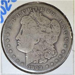 1902-S MORGAN DOLLAR  VG+