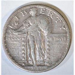 1918-D STANDING LIBERTY QUARTER  CHOICE XF+