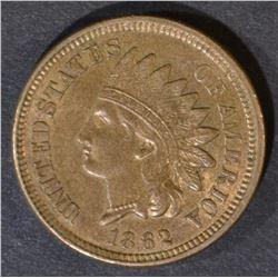 1862 INDIAN CENT  ORIGINAL AU/UNC