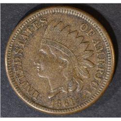 1861 INDIAN CENT  ORIGINAL XF/AU