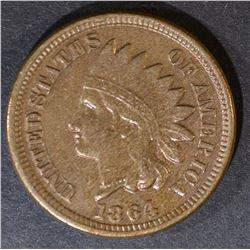 1864 CN INDIAN CENT  ORIGINAL AU++