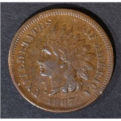 1867 INDIAN CENT  ORIGINAL XF/AU  NICE