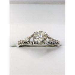 14K WHITE GOLD DIAMOND RING SIZE 6