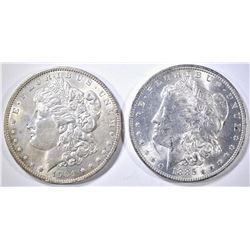 1904-O & 1885-O MORGAN DOLLARS BU