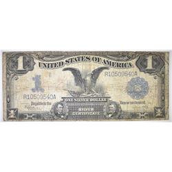 """1899 $1.00 """"BLACK EAGLE"""" SILVER CERT DATE RIGHT"""
