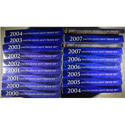 2-EACH 2000-2007 U.S. PROOF SETS