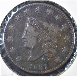 1831 LARGE CENT, VF+