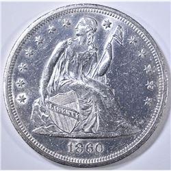 1860-O SEATED LIBERTY DOLLAR CH BU