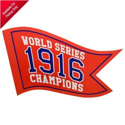 2019 Godzilla: King of the Monsters Screen Used Boston Red Sox Fenway Park World Series 1916 Pennant