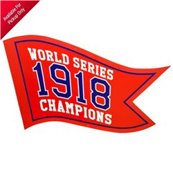 2019 Godzilla King of the Monsters Screen Used Boston Red Sox Fenway Park World Series 1918 Pennant