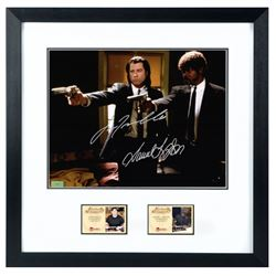 Samuel L. Jackson, John Travolta Autographed Pulp Fiction Hitmen 11×14 Framed Photo