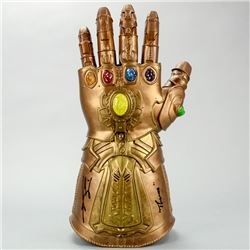 Josh Brolin Autographed Marvel Legends Avengers Infinity Gauntlet with Thanos Inscription