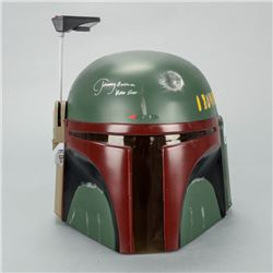 Jeremy Bulloch Autographed Star Wars 1:1 Scale Boba Fett Helmet with 'Boba Fett' Inscription