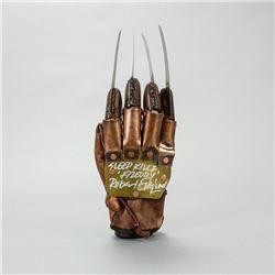 Robert Englund Autographed NECA Freddy Krueger Glove with 'Sleep Kills' Inscription