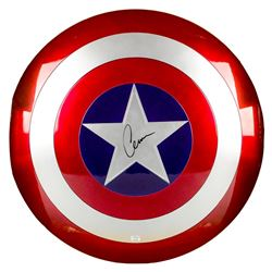 Chris Evans Autographed Marvel Legends Avengers Captain America 1:1 Prop Replica Shield