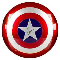 Chris Evans Autographed Marvel Legends Avengers Captain America 1:1 Prop Replica Shield