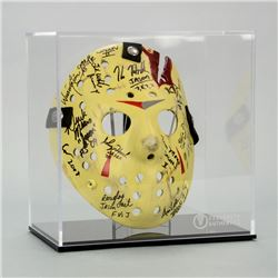 Friday the 13th Jason Voorhees Cast Autographed Mask Series 2 with Display Case