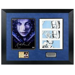 Kate Beckinsale Autographed 2006 Underworld Evolution 8.5x11 Metallic Photo and Production Used Stor