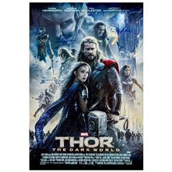 Chris Hemsworth, Tom Hiddleston Autographed 2013 Thor: The Dark World 27x40 Original Poster