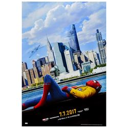 Tom Holland Autographed 2017 Spider-Man: Homecoming Original 27x40 Double-Sided Movie Poster