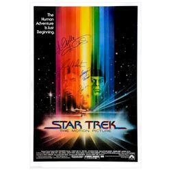 Leonard Nimoy, William Shatner, George Takei, Walter Koenig, Nichelle Nichols Cast Autographed 1979