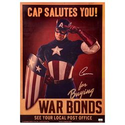Chris Evans Autographed Captain America The First Avenger Screen Used Prop Poster