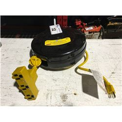 GENERAL/COMMERCIAL/INDUSTRIAL EXTENSION CORD REEL 30'-TRIPLE TAP-OVERLOAD PROTECTED