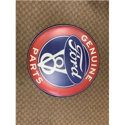 NO RESERVE GENUINE FORD PARTS SIGN