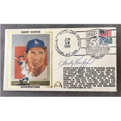 Sandy Koufax Signed Flat with Event Stamp