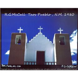 Taos Pueblo Church by Robert McCall Vintage Photograph