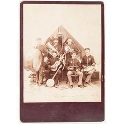 Indian Wars-Period Photograph of Army Musicians