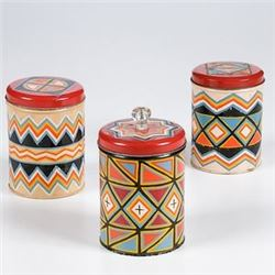 Painted Tin Jars from the Shiprock Trading Post Shiprock, New Mexico