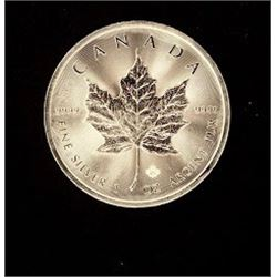 Canadian Maple Leaf 5 Dollar 1 Ounce Silver Coin