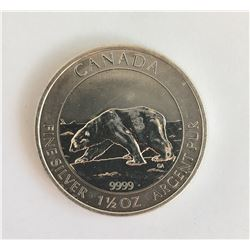 1 1/2 Ounce Silver Canadian