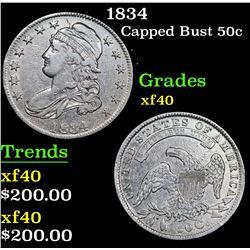 1834 Capped Bust Half Dollar 50c Grades xf