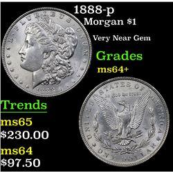 1888-p Morgan Dollar $1 Grades Choice+ Unc