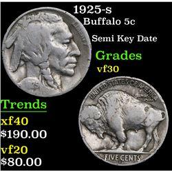 1925-s Buffalo Nickel 5c Grades vf++