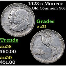 1923-s Monroe Old Commem Half Dollar 50c Grades Select AU
