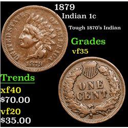 1879 Indian Cent 1c Grades vf++