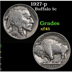 1927-p Buffalo Nickel 5c Grades xf+