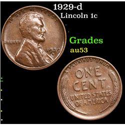 1929-d Lincoln Cent 1c Grades Select AU