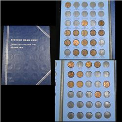 Starter Lincoln cent book 1941-1957 24 coins . .