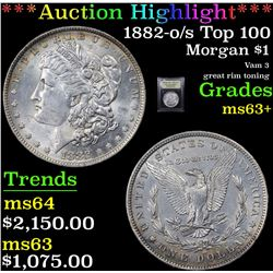 ***Auction Highlight*** 1882-o/s Top 100 Morgan Dollar $1 Graded Select+ Unc By USCG (fc)