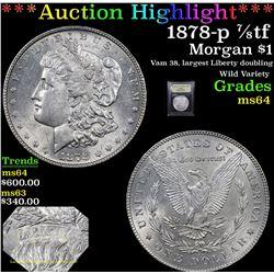 ***Auction Highlight*** 1878-p 7/8tf Morgan Dollar $1 Graded Choice Unc By USCG (fc)