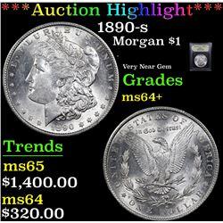 ***Auction Highlight*** 1890-s Morgan Dollar $1 Graded Choice+ Unc By USCG (fc)